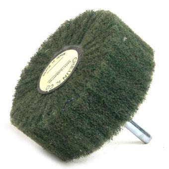 """[천일연마] 3""""샤프트 수세미휠(녹색)"""